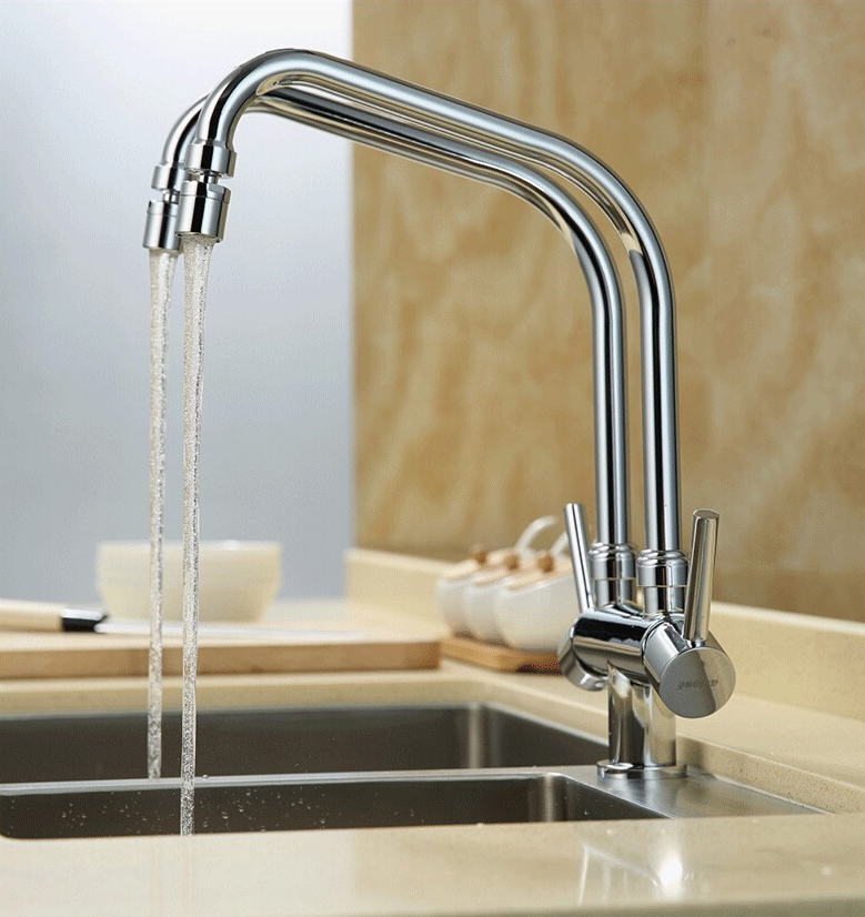 Shop Creteil Double Pipe Hot & Cold Kitchen Sink Faucet At Bathselect