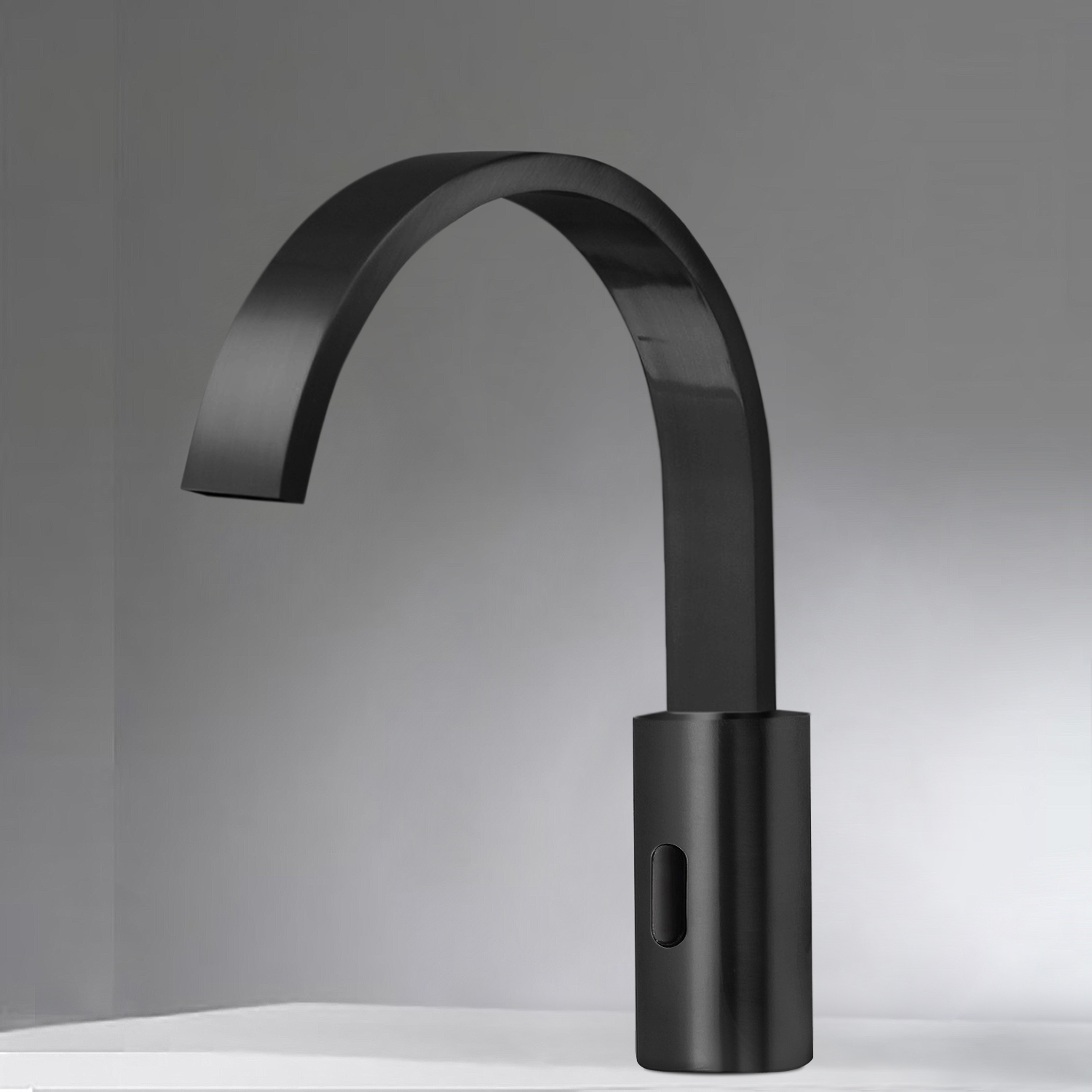 ORB//Nickel Led Automatic Waterfall Mixer Sensor Touchless Faucet Hands Free Tap