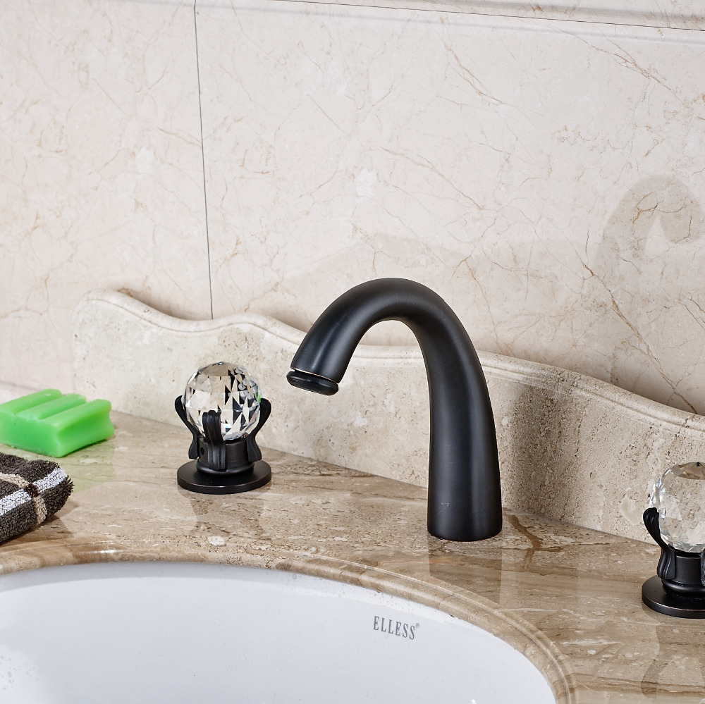 Elateia Oil Rubbed Bronze Bath Sink Faucet