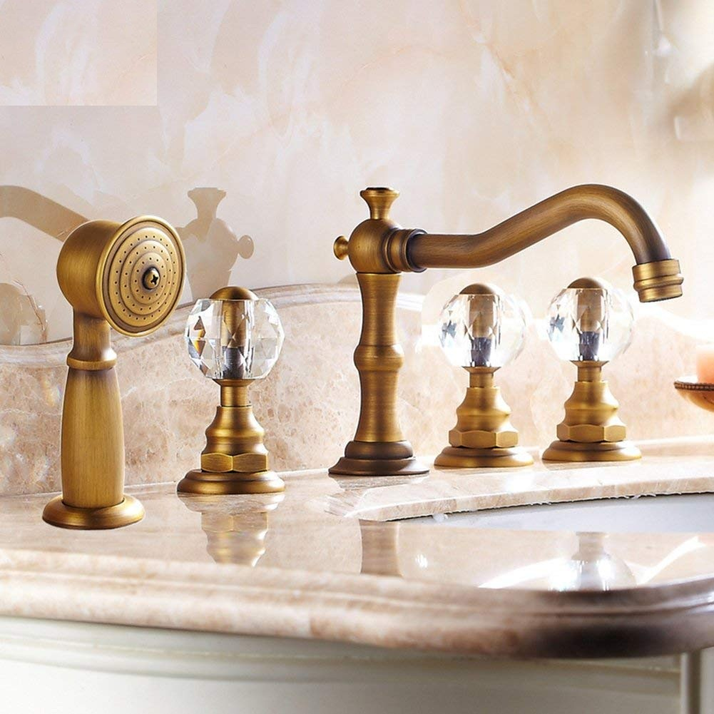 European Bathtub Copper Faucet Mixer