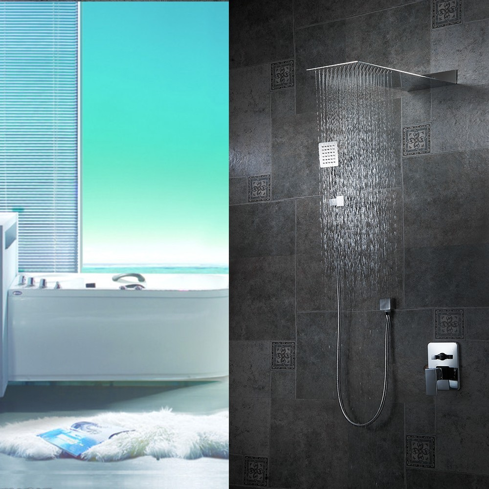 Florence Chrome Plated Bathroom Wall Mount Rainfall Shower Set