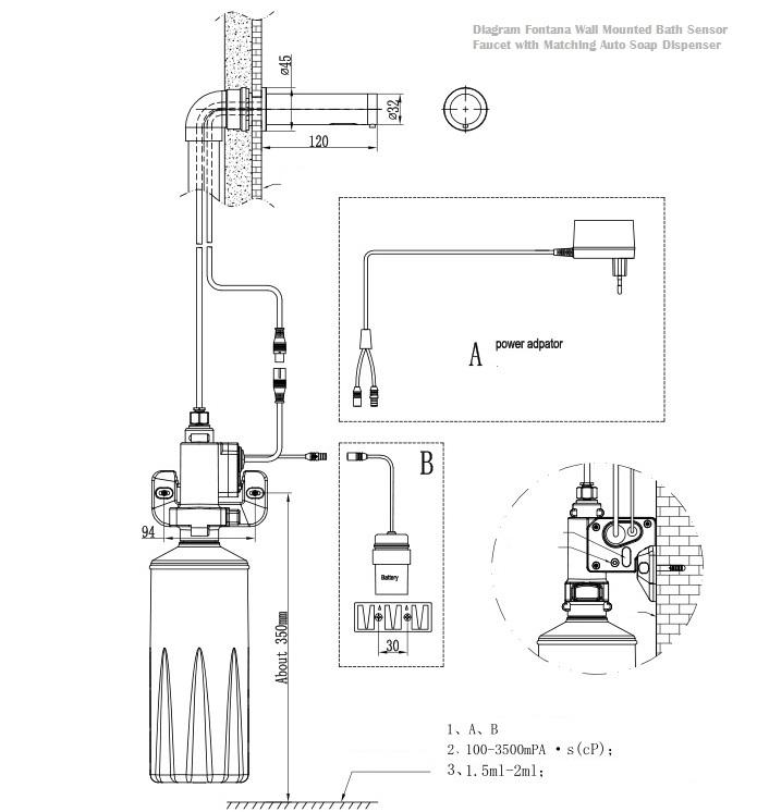 Fontana Wall Mount Commercial Automatic Sensor Faucet