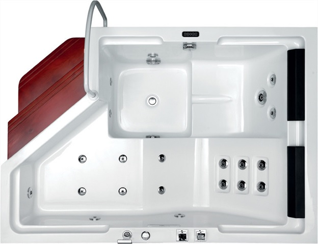The tub will have a high gloss finish that is pleasing to the eye1