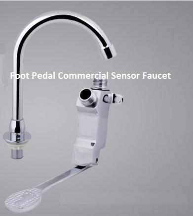 Foot Pedal Commercial Sensor Faucets