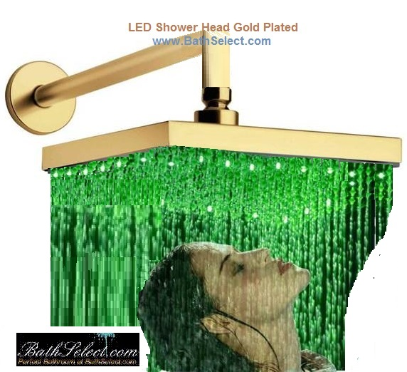 gold rain shower head. gold plated led shower head Shop Gold Plated Led Shower Head for beauty  functionality