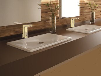 Bathroom Faucets In Gold Tone gold plated sensor faucets