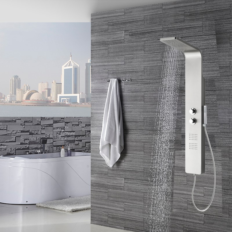 Vienna Thermostatic Bath Shower Panel & Hand Shower