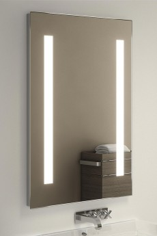 Led Lighted Bathroom Makeup Mirror With Defogger Sensor Touch Switch