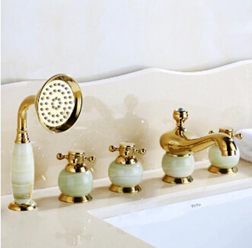 La Rochelle 5 Piece Deck Mounted Bathtub Faucet