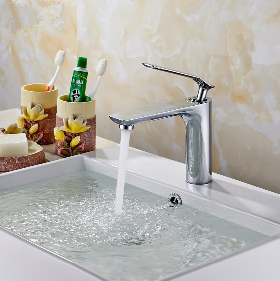 Limoges Single Handle Deck-Mounted Bathroom Sink Faucet