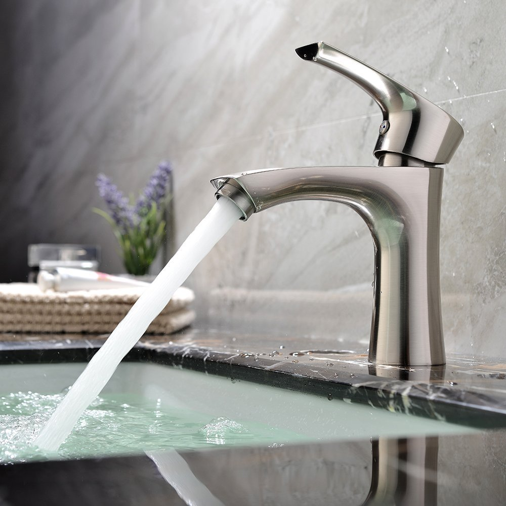 Shop Livorno Single Handle Bathroom Sink Faucet With Hotcold Mixer ...