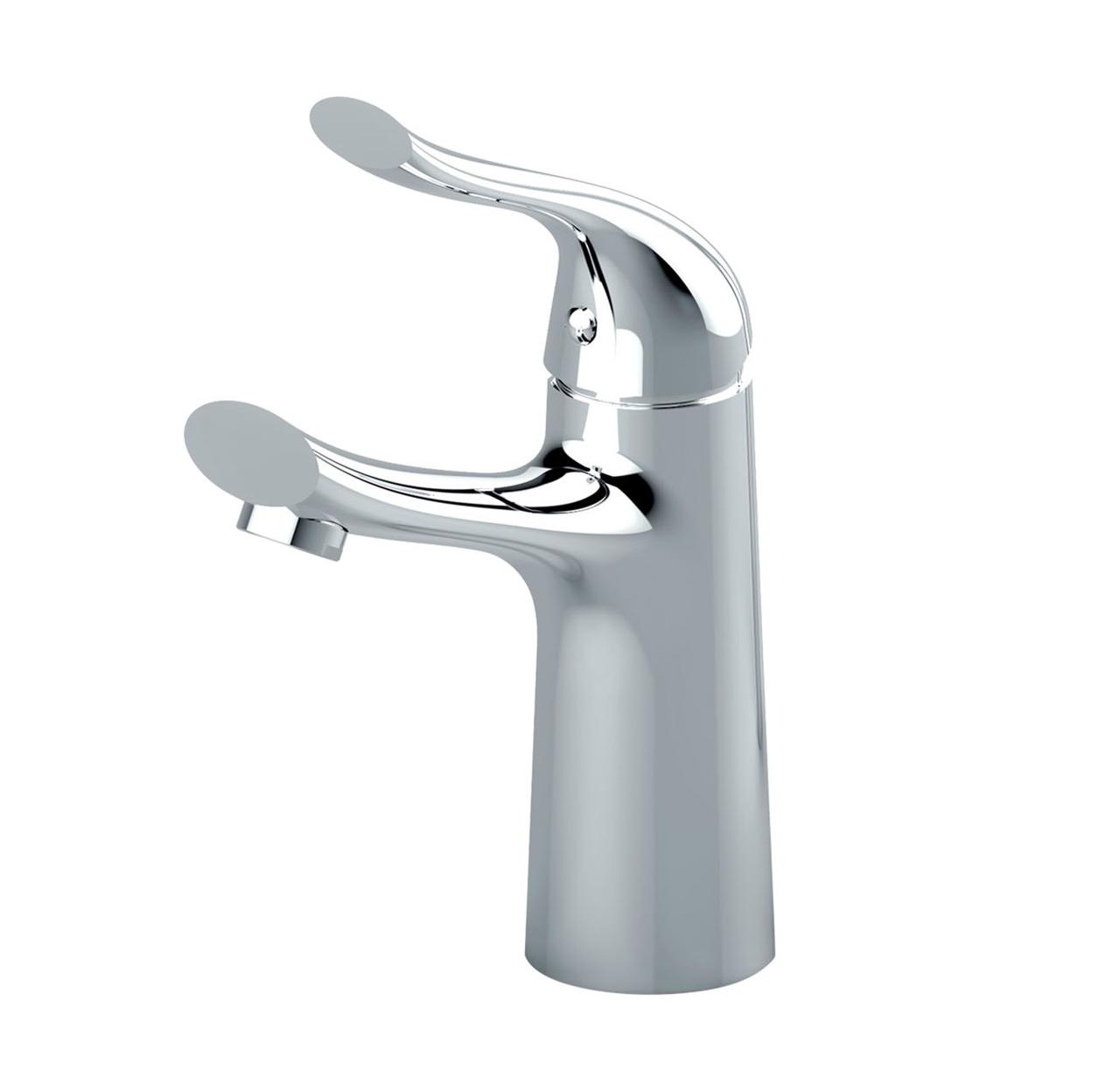 Lyon Single Handle Deck Mounted Bathroom Sink Faucet