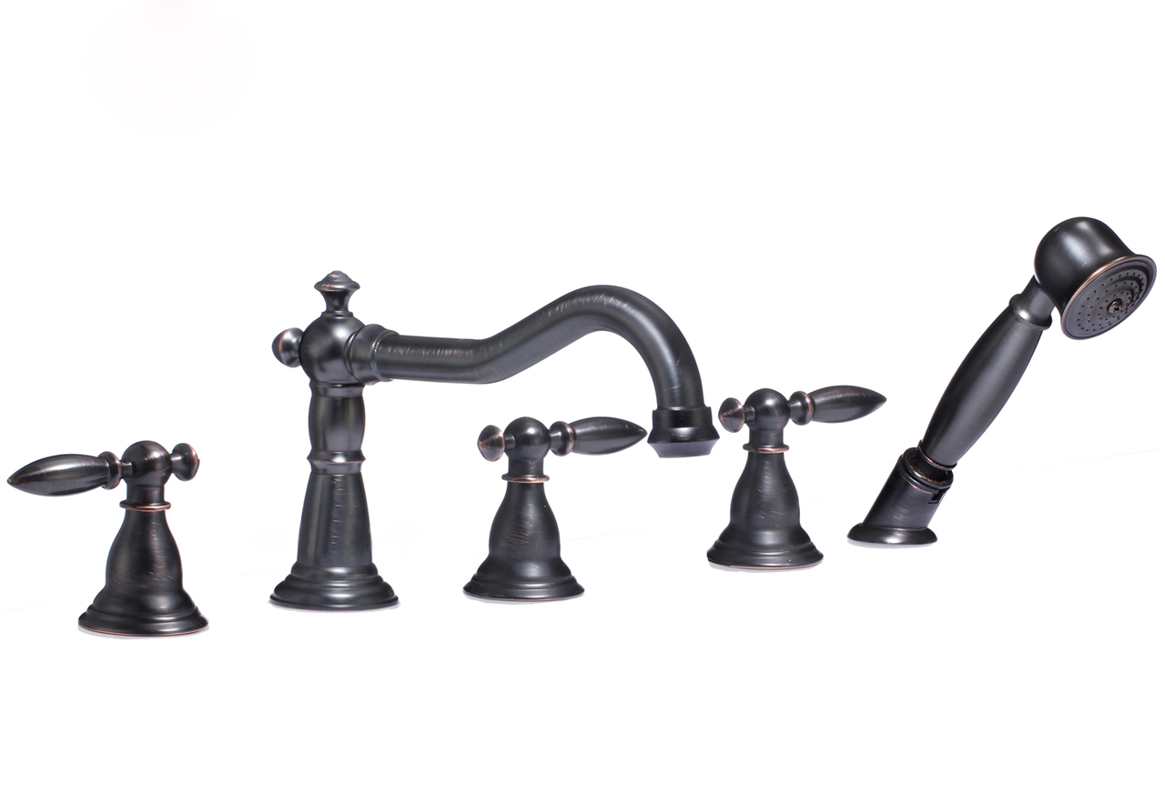 Nantes Triple Handle Solid Brass Bathroom Sink Faucet