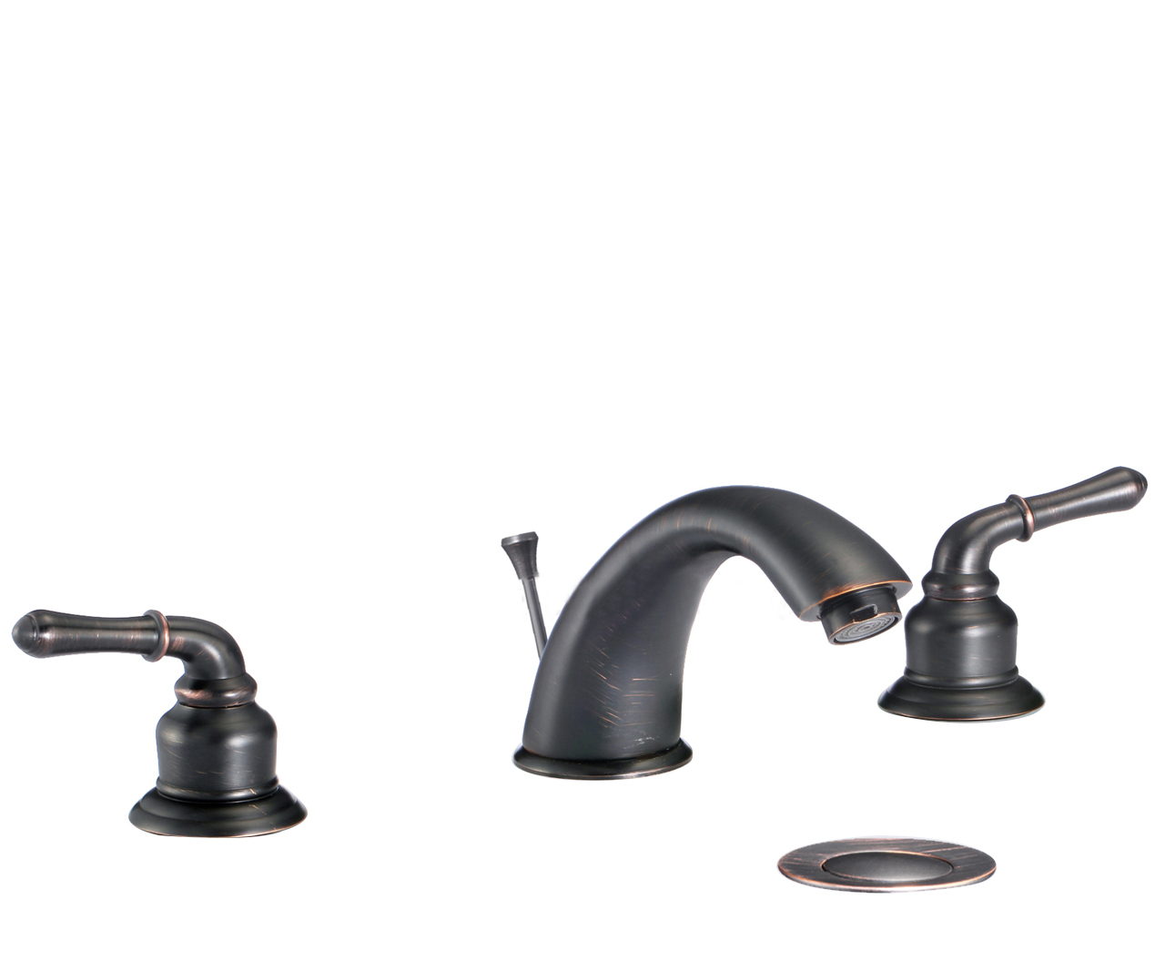 Shop Naples Dual Handle Solid Brass Bathroom Sink Faucet With Drain ...