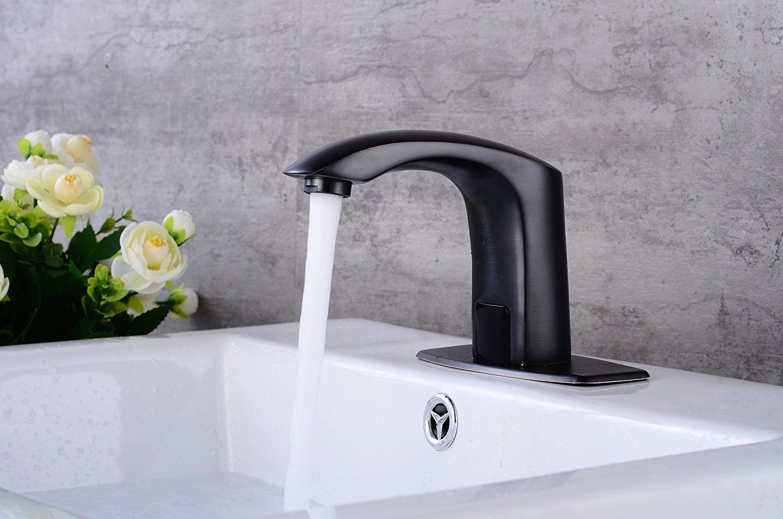 Shop Naples Oil Rubbed Bronze Motion Sensor Faucet With Hot/Cold ...