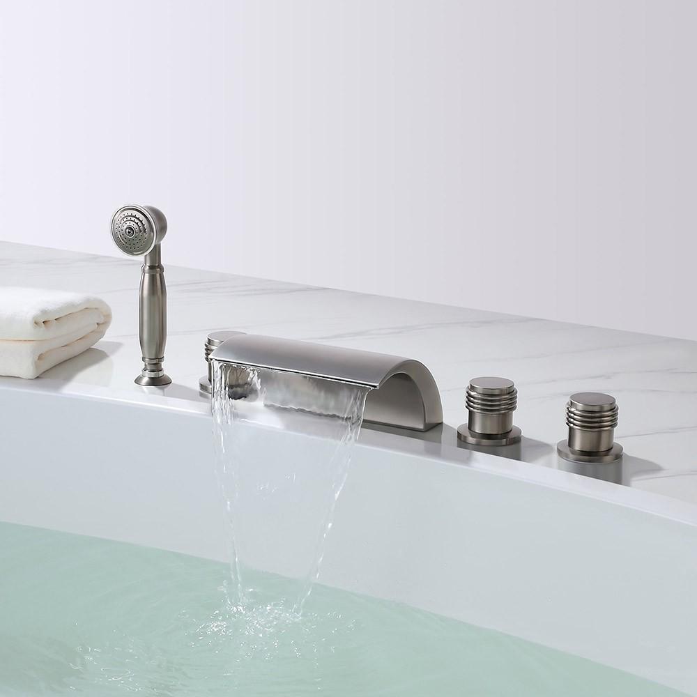 Shop Naples Triple Handle Solid Brass Bathroom Sink Faucet At Bathselect