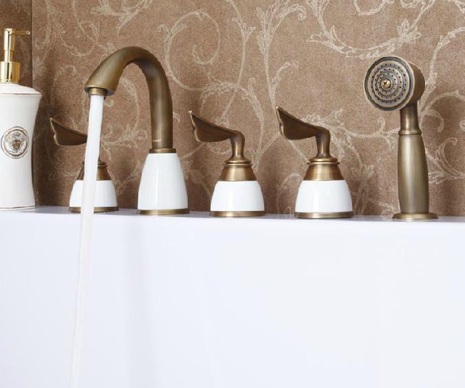 Napoli Creative Design 5PCS Deck mount Bathtub Faucet Set