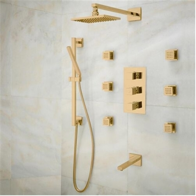 Napoli Rainfall Thermostatic Shower Set with Faucet