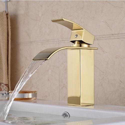 Olivos Gold Finish Bathroom Sink Faucet