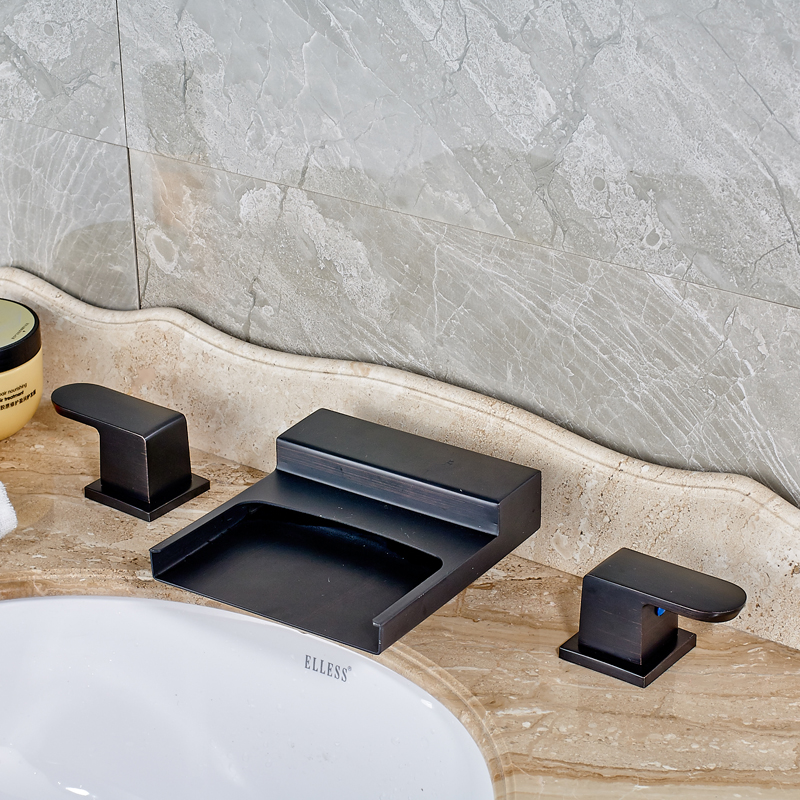 Ottawa Waterfall LED Bathroom Sink Faucet In Oil Rubbed Bronze Finish