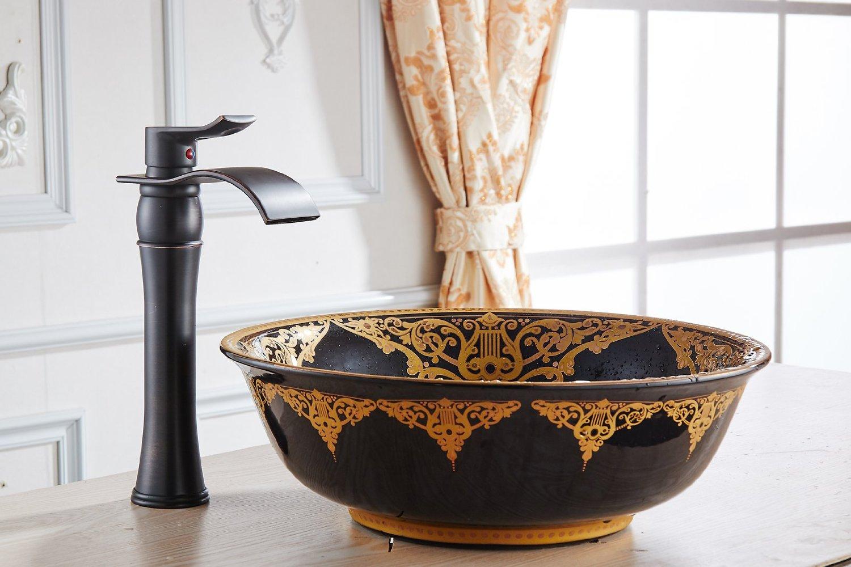 Palencia Single Handle Bathroom Sink Faucet with Drain