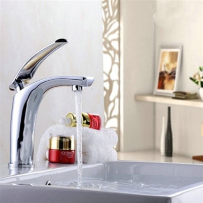 Perugia Deck Mounted Single Handle Faucet with Hot/Cold Water Mixer