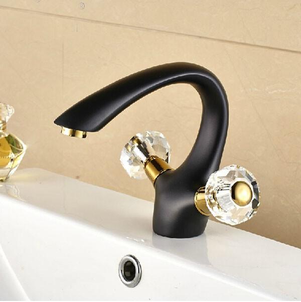 Reggio Oil Rubbed Bronze Dual Handle Bathroom Sink Faucet