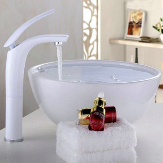 Reggio nell'Emilia Deck Mounted Single Handle Faucet with Hot/Cold Water Mixer