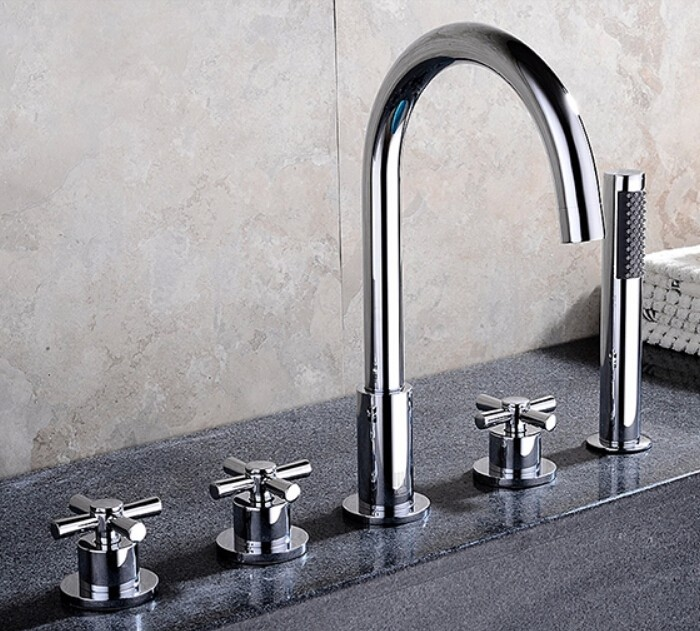 Reims Deck-Mounted 5 Piece Bathtub Faucet