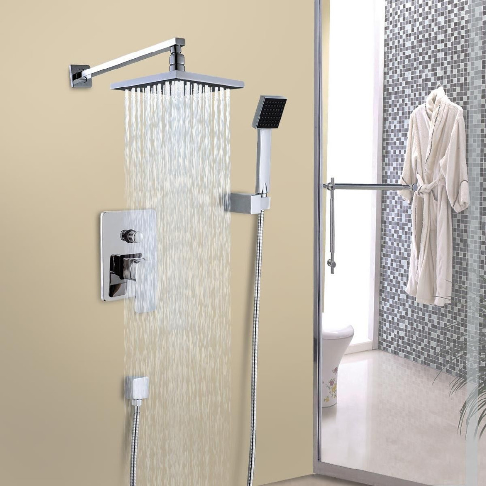 Rome Chrome Finish Rainfall Showerhead With Handheld Shower