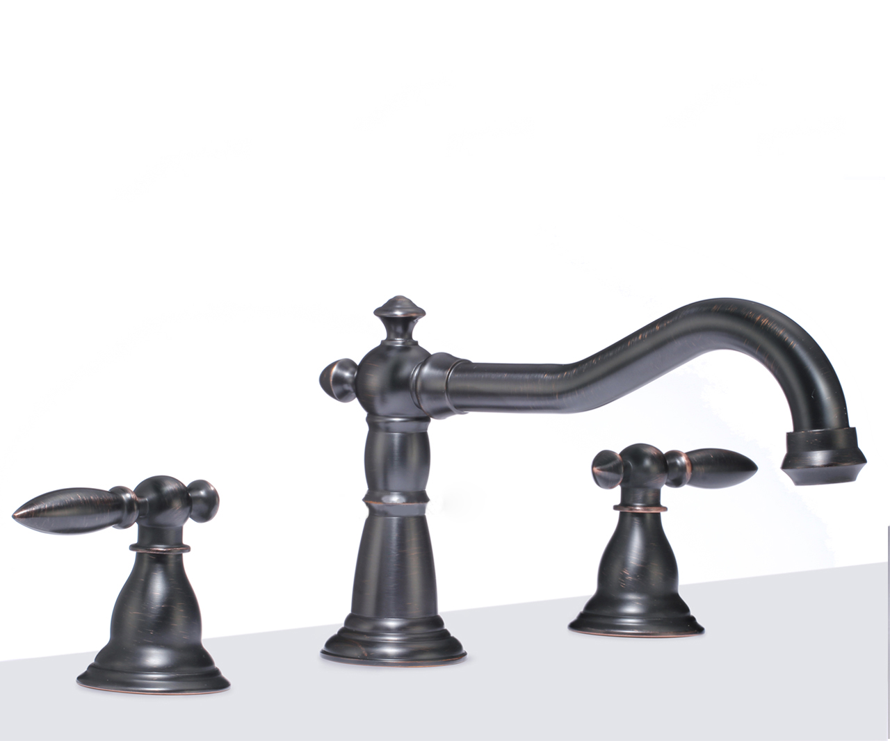 Shop Rome Dual Handle Solid Brass Bathroom Sink Faucet At Bathselect