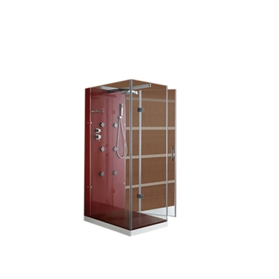 FontanaShowers Steam Shower System MODEL: M-D033 L(R)(Red)