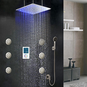 Taranto Bathroom Shower Set with Rainfall Shower Head & Hand Shower