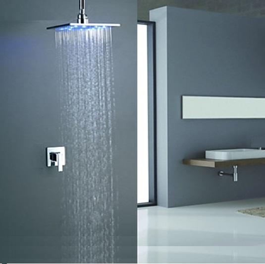 Briano MultiColor Water Powered Shower Solid Brass Built in Mixer