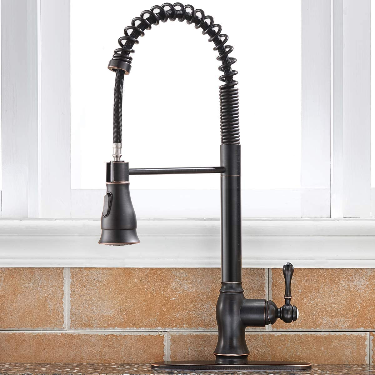Buy Single Handle Kitchen Sink Faucet With Hot Cold Water Mixer Cover Plate Online