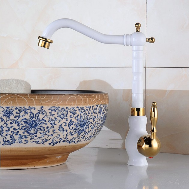 Stratos Basin Sink Faucet with Hot and Cold Mixer