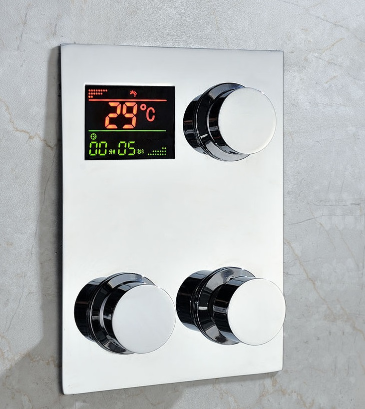 Amazing Thermostatic Digital Shower Display Mixer Bath Select Showers