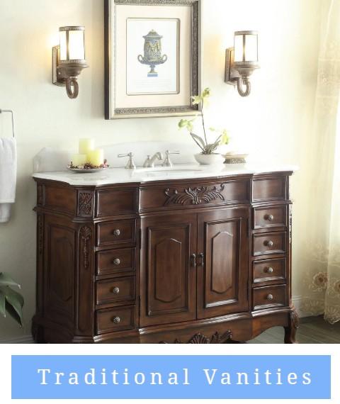 Traditional vanity bathroom sinks