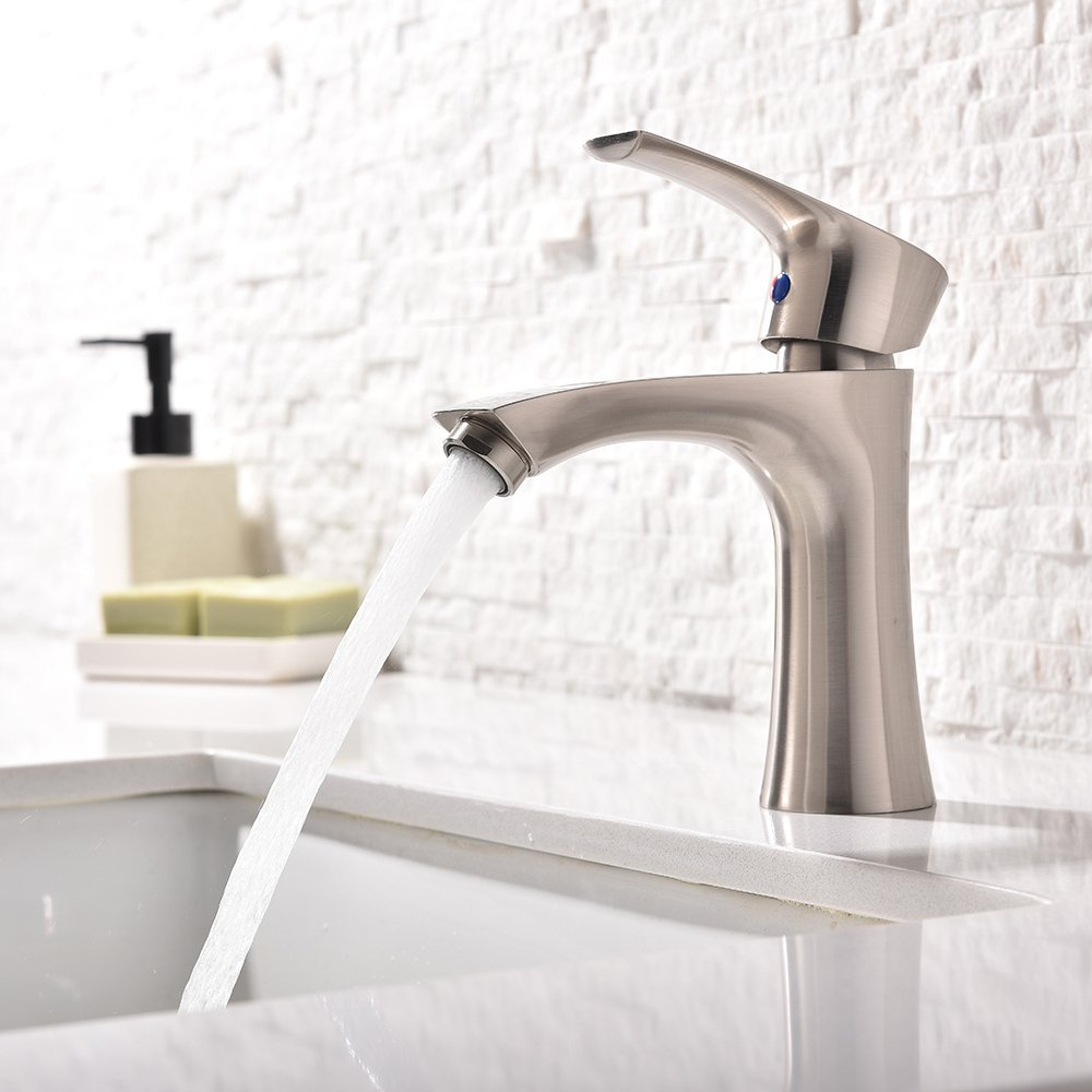 Shop Trento Single Handle Bathroom Sink Faucet With Hot/Cold Mixer ...