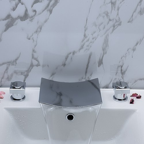 Two Handle Desk Mounted Bathroom Tub Faucet Chrome finished tap mixer