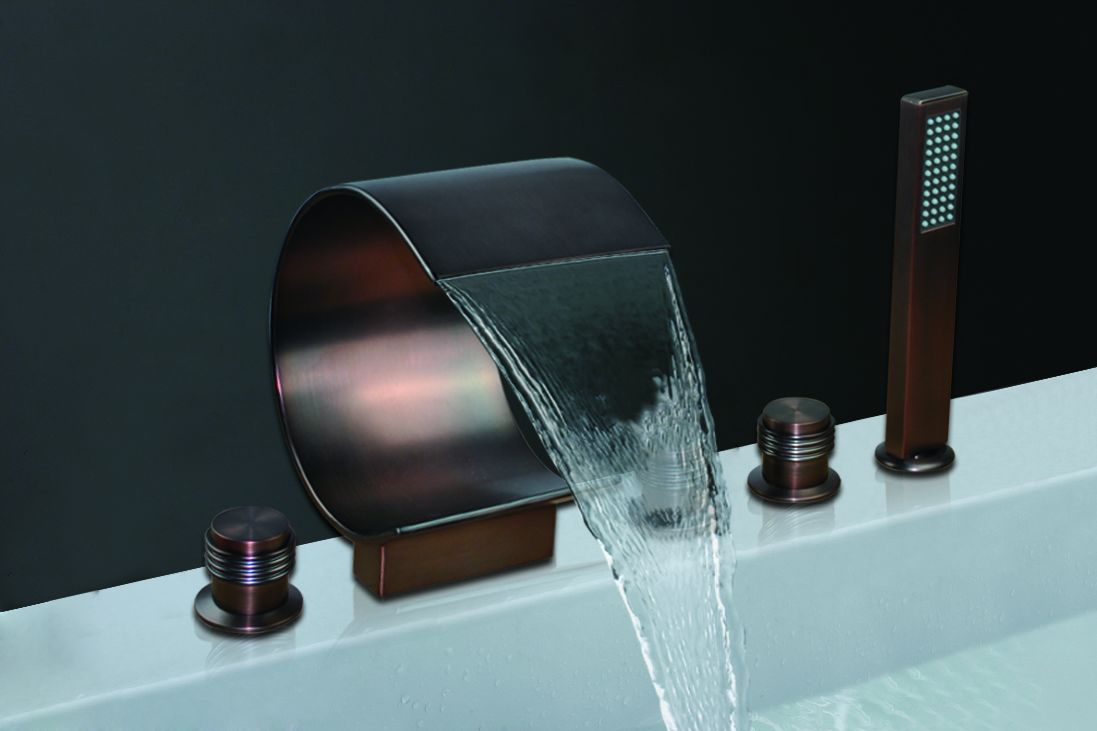 Shop Bronze Waterfall Bathroom Faucet Bsy 8014r 2 At Bathselect