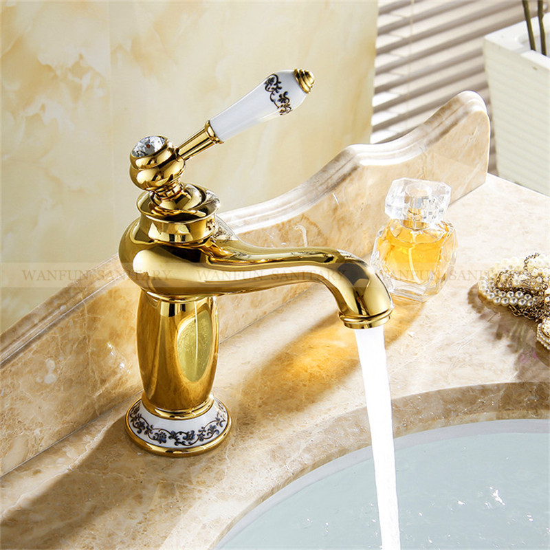 Bathroom Faucet Gold Finish Cold ...