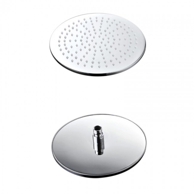 Venice Round Wall Mount Color Changing LED Rain Shower Head Set - Rainfall