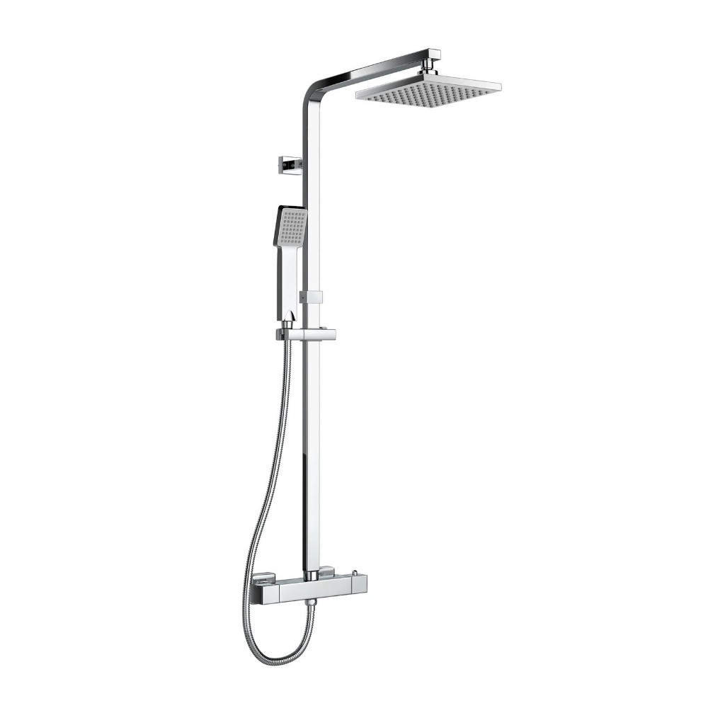 Buy Bathroom Thermostatic Shower Sets. Square Shower Arm Twin Head ...