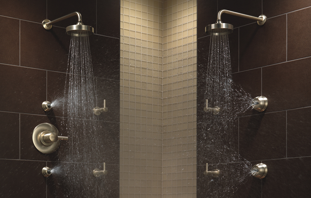 arin thermostatic shower system with hand shower 6 jets, shower ...