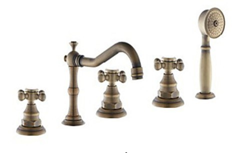 brass-finish-tub-faucet-with-hand-shower