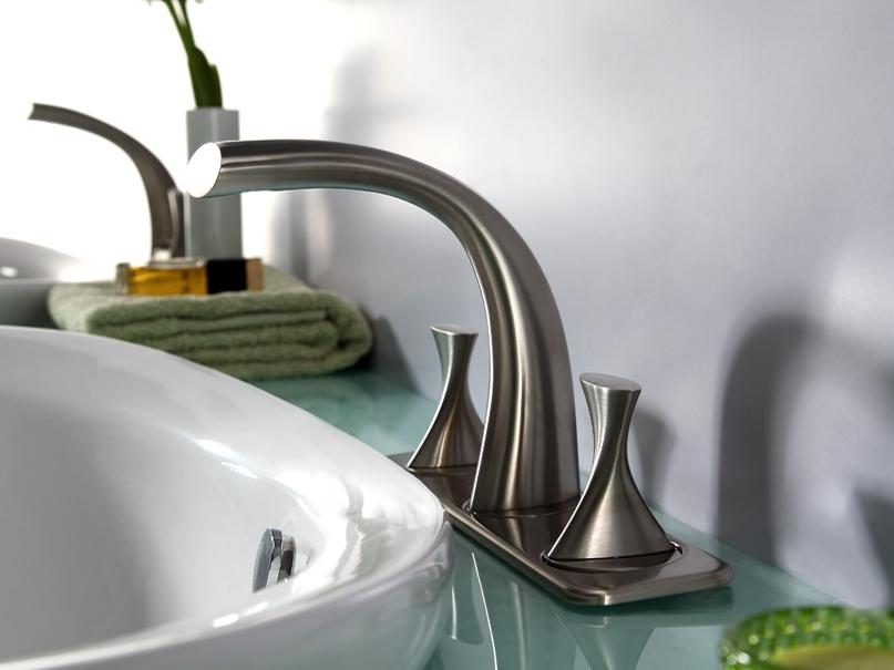 Bravat Chrome PVD Brushed Nickel Bathroom Basin Mixer Tap