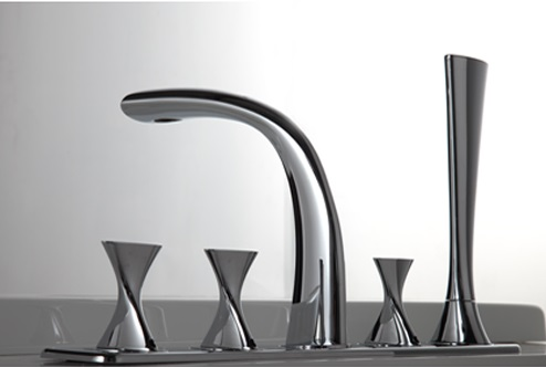 Bravat Chrome PVD Brushed Nickel Bathroom Basin Mixer Tap