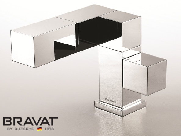 Bravat Chrome Plated Polished Wash Basin Water Faucet