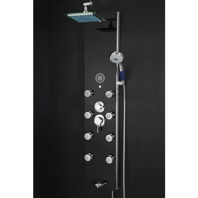 Fontana Hydrotherapy Massage Shower Panel with Handheld Shower Head